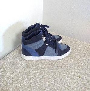 Michael Michael Kors Blue Denim Sneakers
